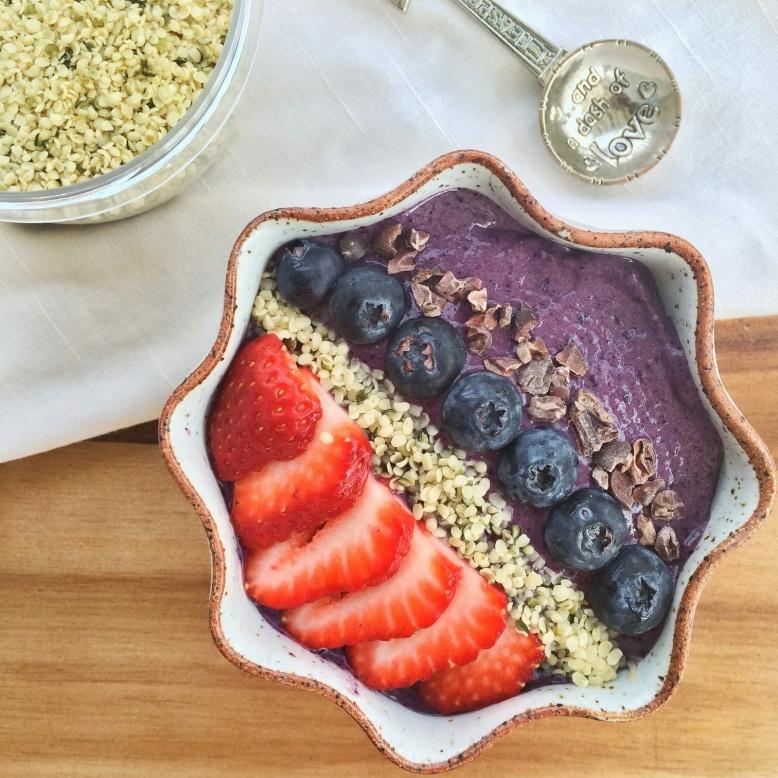 Blueberry, Vanilla, Acai Nice Cream