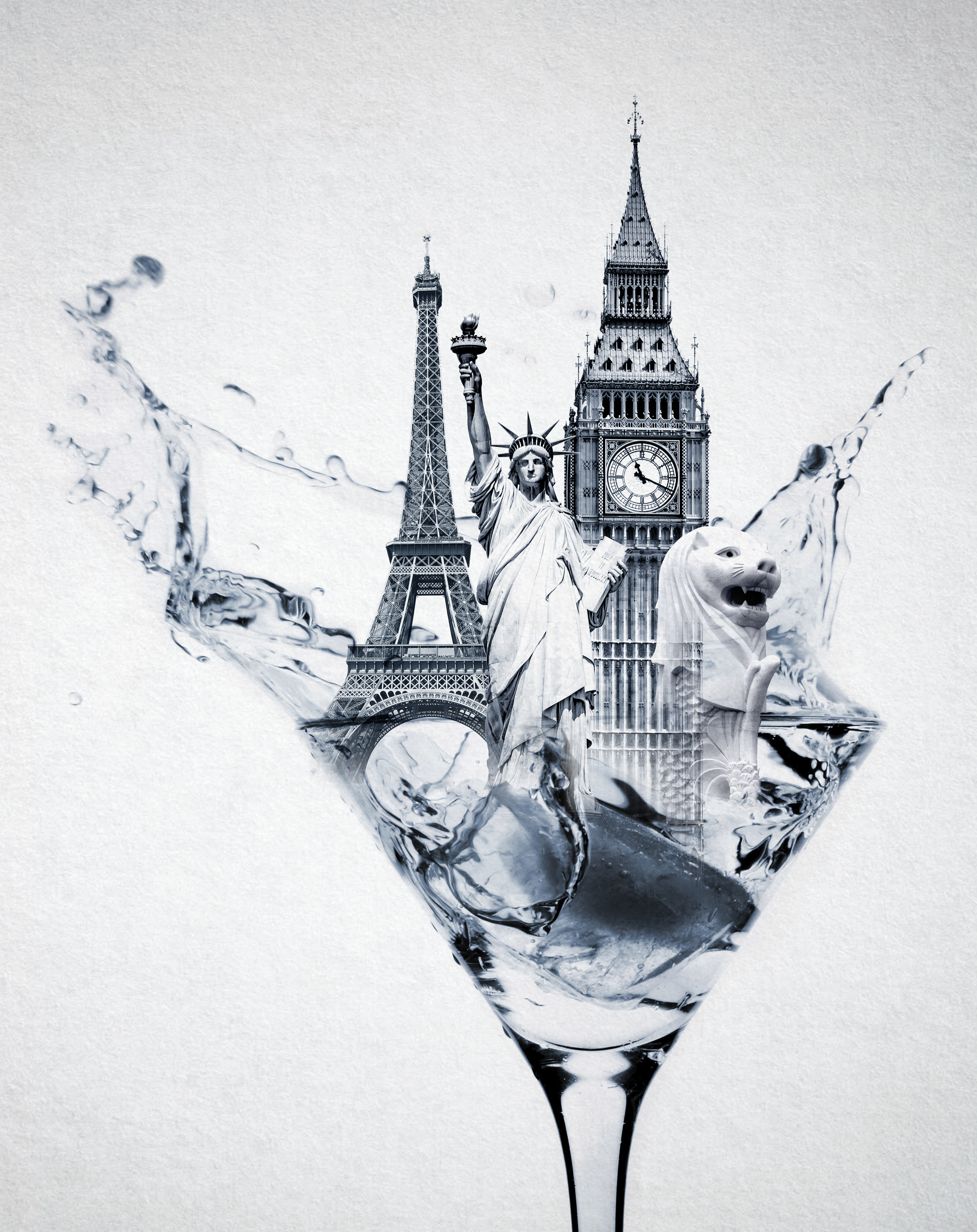 Splashing martin