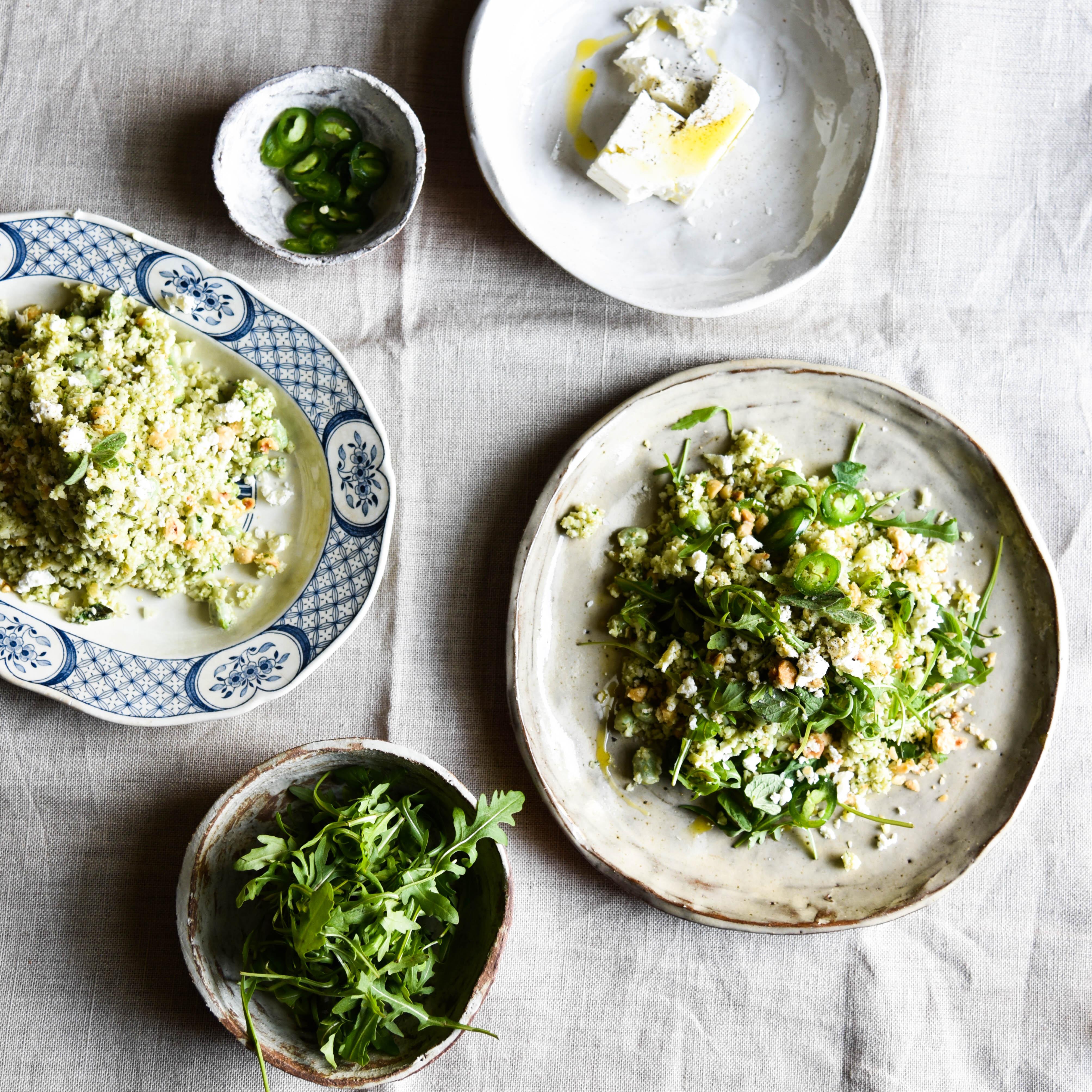 Anna Barnett Cauliflower rice recipe