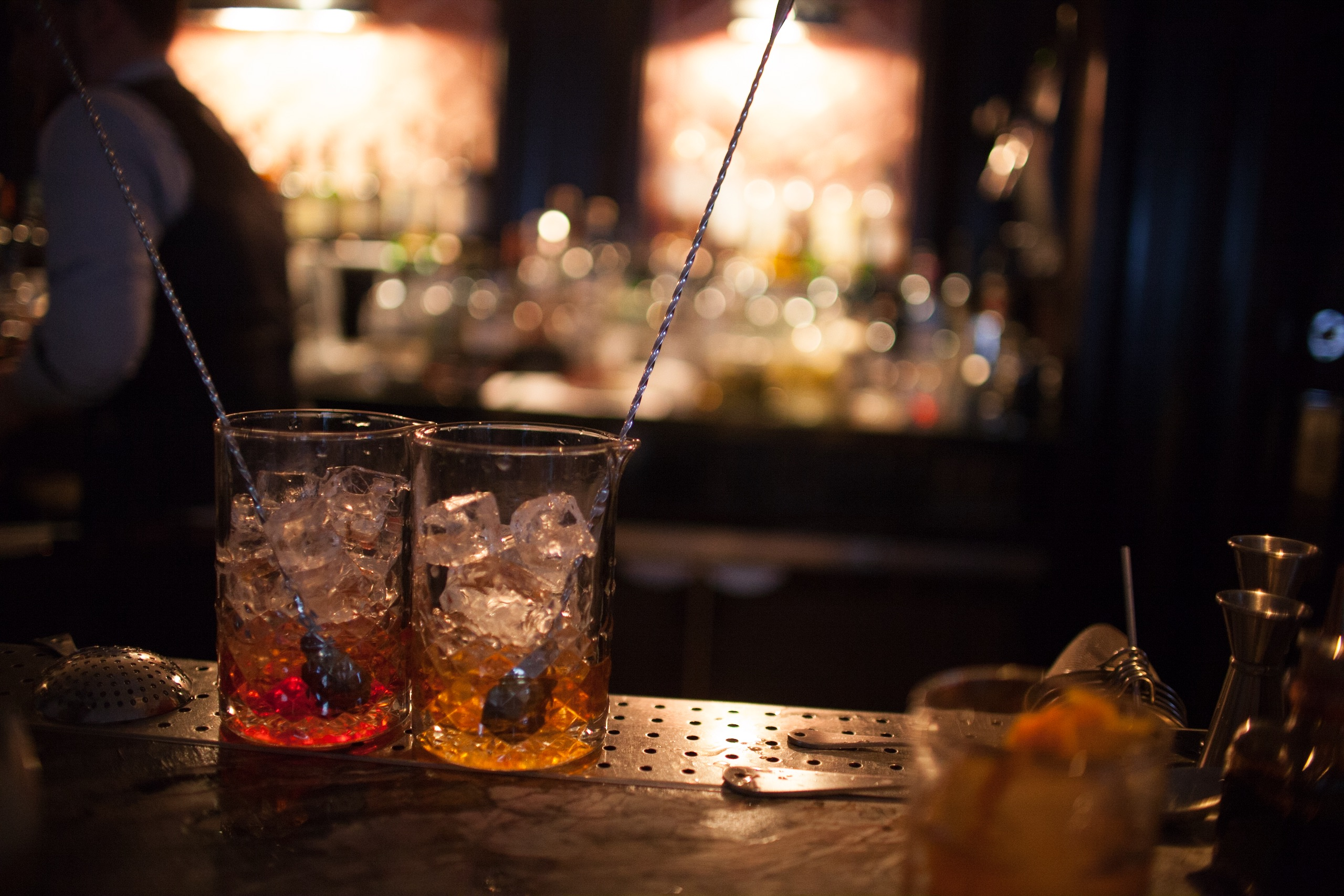 The Luggage Room negroni and old fashioned