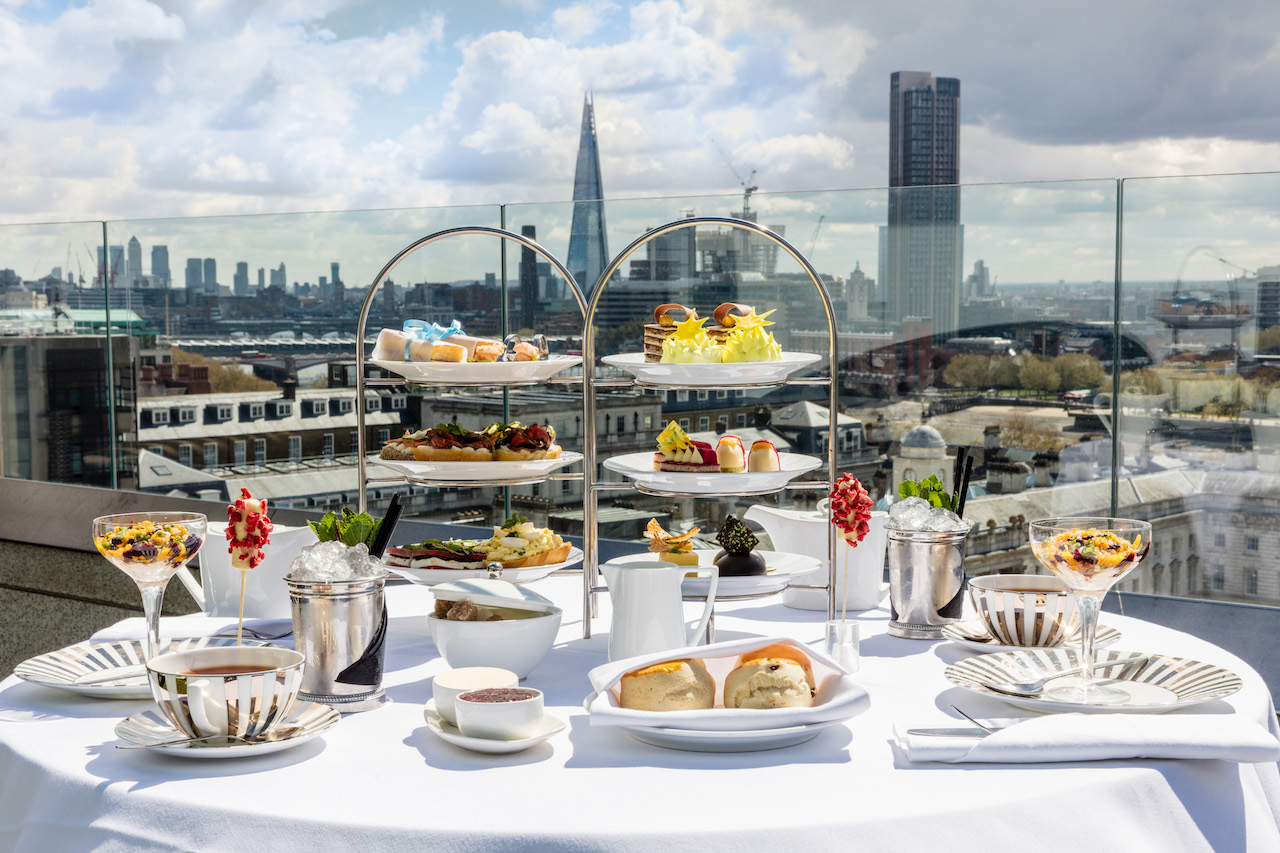 The Skyline Afternoon Tea, Radio Rooftop Bar, ME London