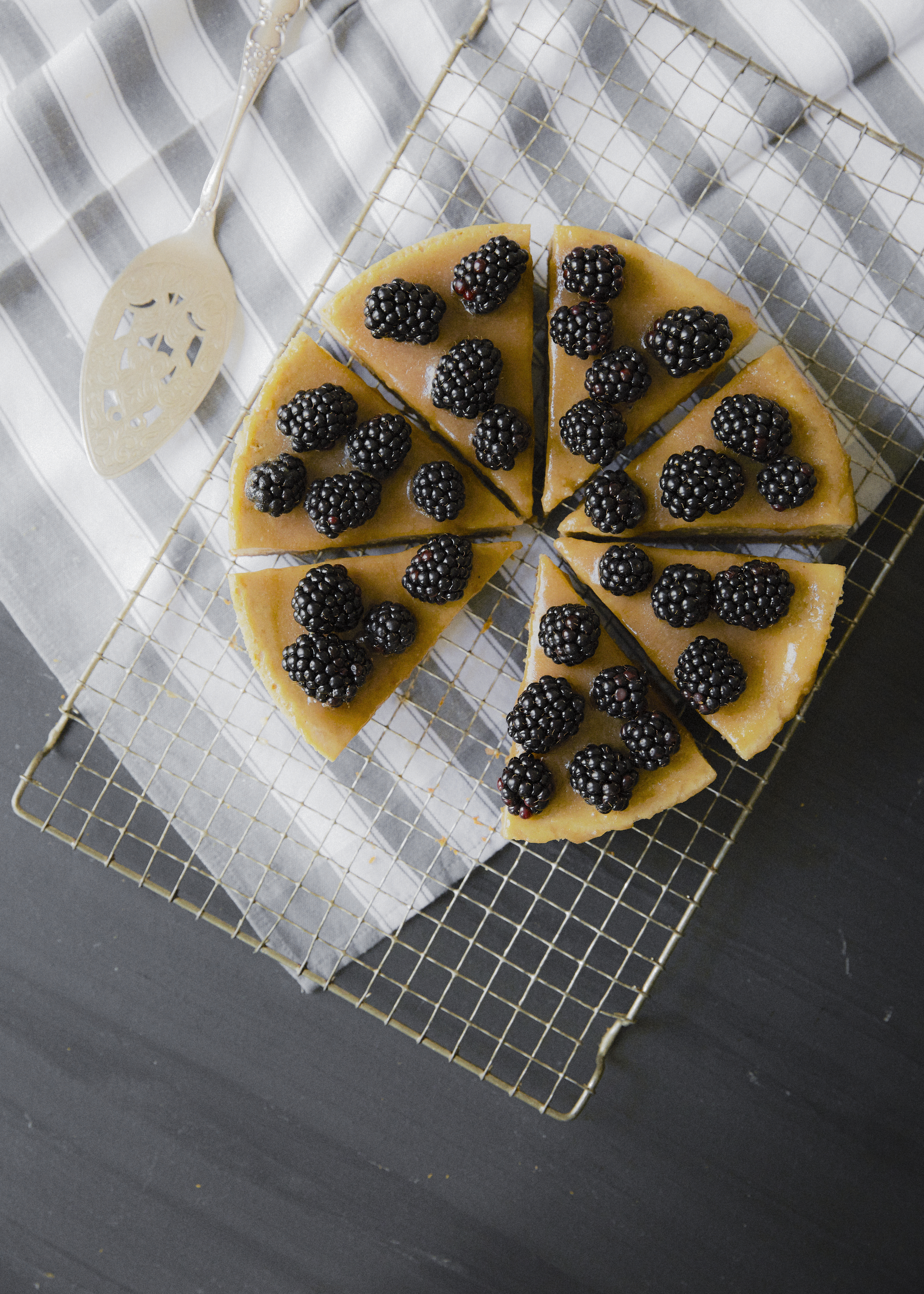 Recipe: Chestnut, Ginger & Blackberry Cheesecake