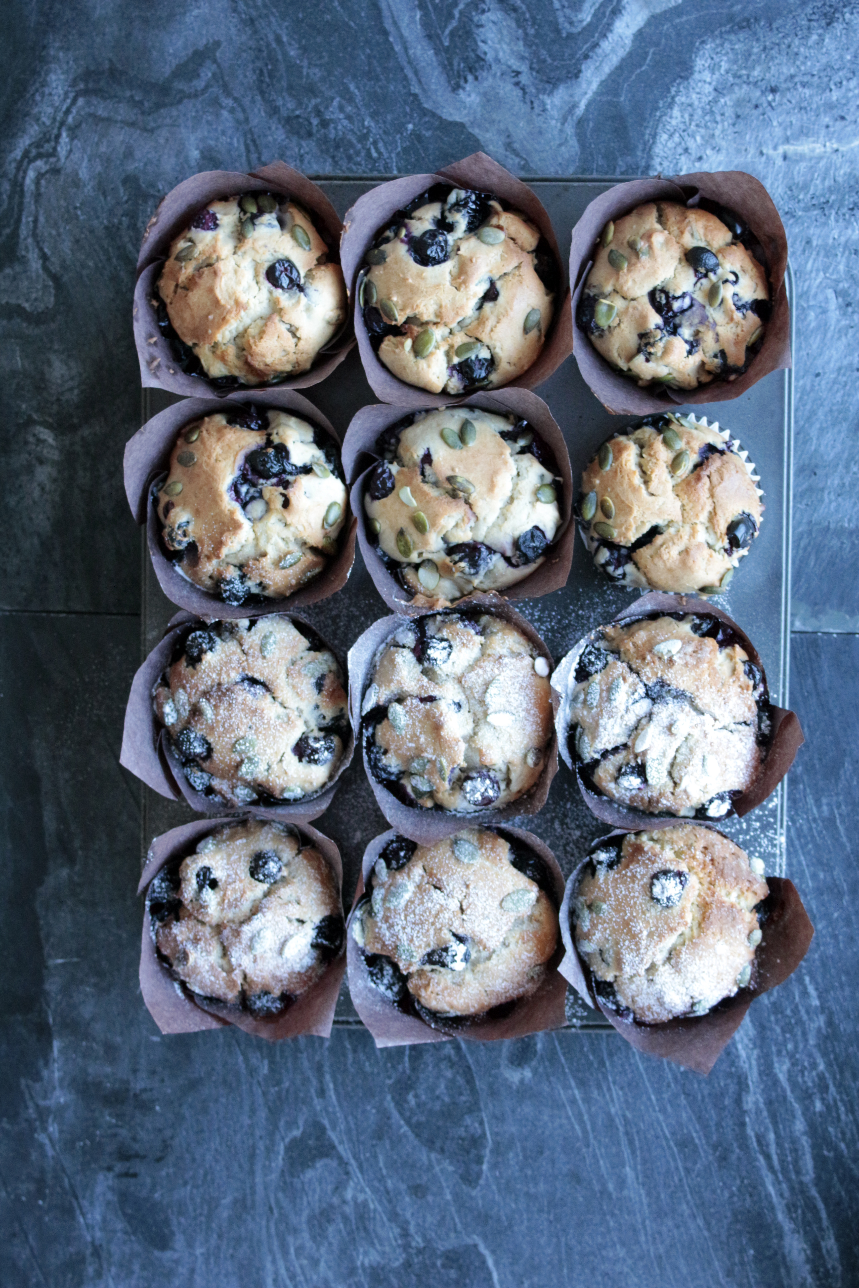 Recipe: Chestnut and Blueberry Muffins