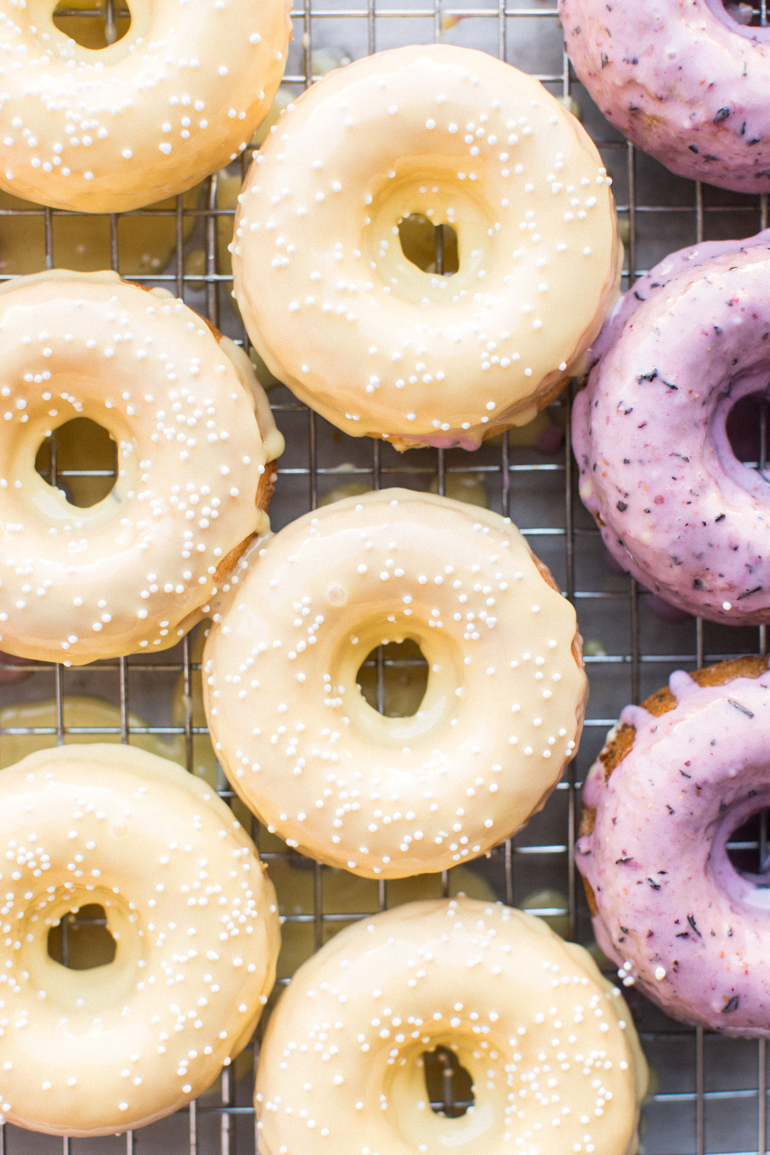 Honeysuckle's 3 Fruity Baked Donuts