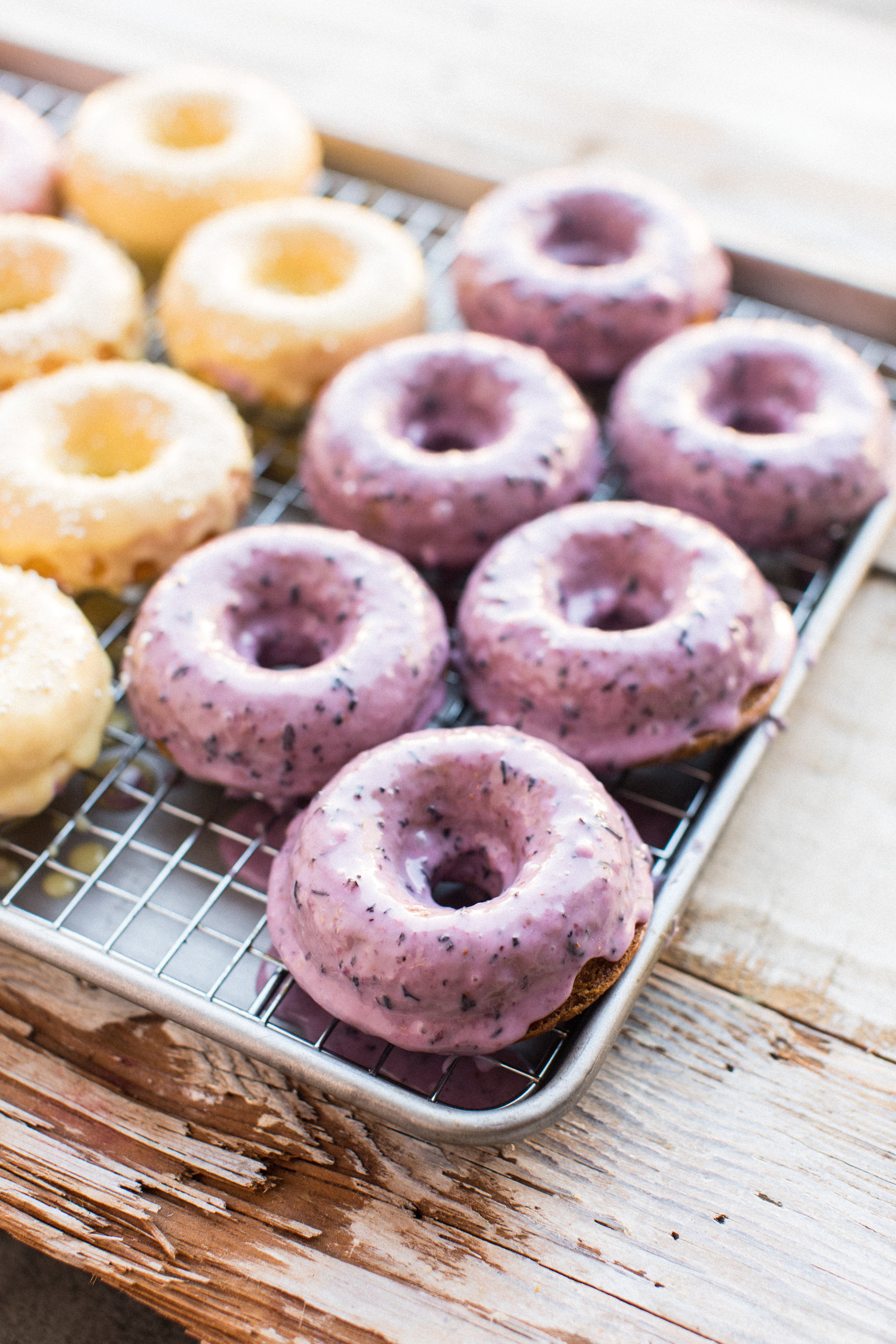 Honeysuckle's 3 Fruity Baked Donuts
