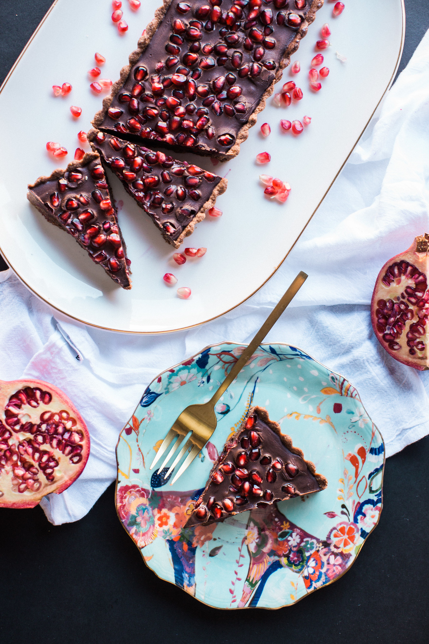 Honeysuckle's Chocolate and Pomegranate Tart