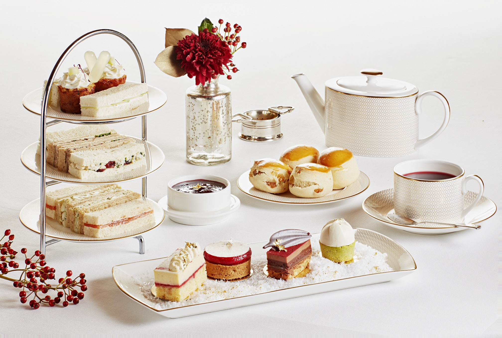 Festive Diptyque Afternoon Tea, Hotel Cafe Royal, London 1