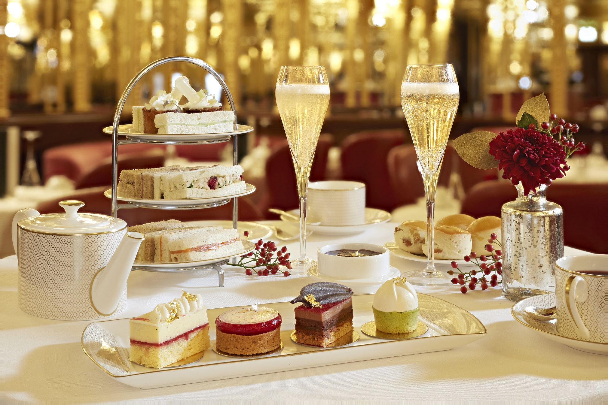 Festive Diptyque Afternoon Tea, Hotel Cafe Royal, London