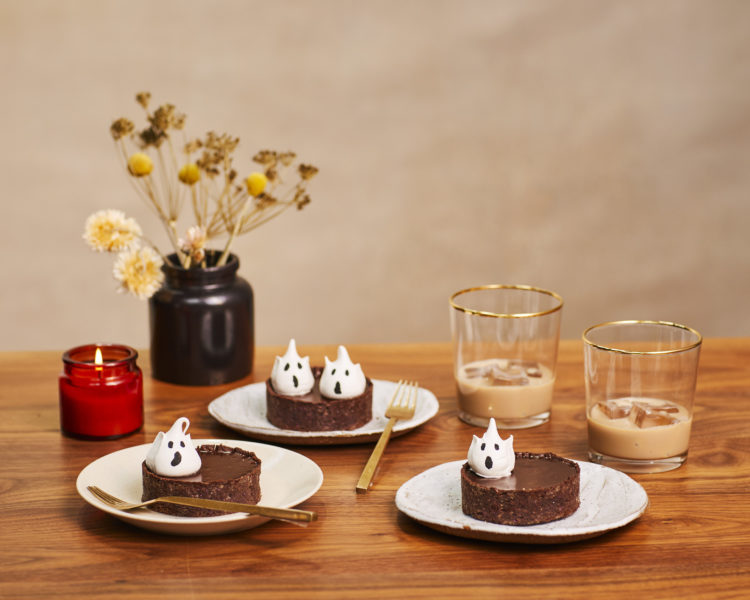 Lily Vanilli's Baileys Chocolate Tarts with Meringue Ghosts